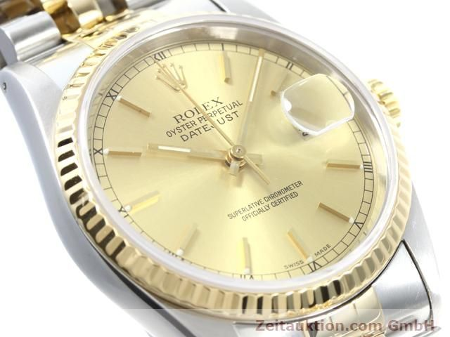 montre de luxe d occasion Rolex Datejust acier / or  automatique Kal. 3135 Ref. 16233  | 140052 02