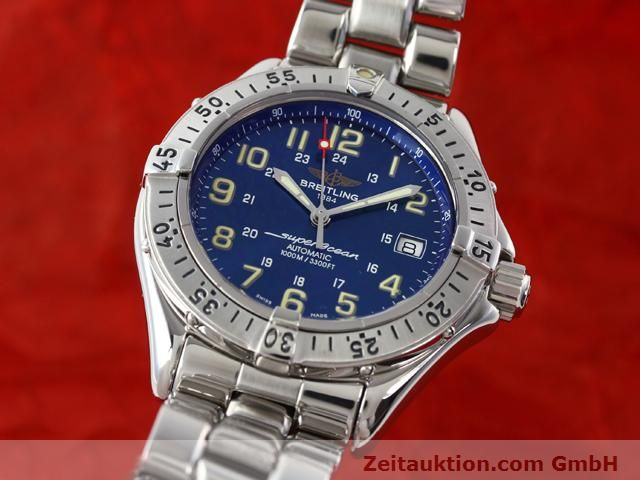 Used luxury watch Breitling Superocean steel automatic Kal. ETA 2824-2 Ref. A17040  | 140056 04