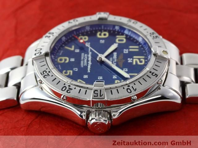 Used luxury watch Breitling Superocean steel automatic Kal. ETA 2824-2 Ref. A17040  | 140056 05
