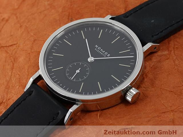 Used luxury watch Nomos Tangente steel manual winding Kal. Alpha 15398  | 140057 01