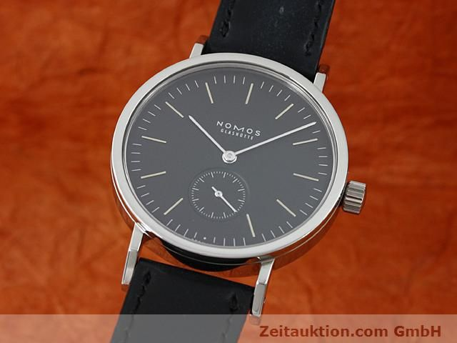 Used luxury watch Nomos Tangente steel manual winding Kal. Alpha 15398  | 140057 04