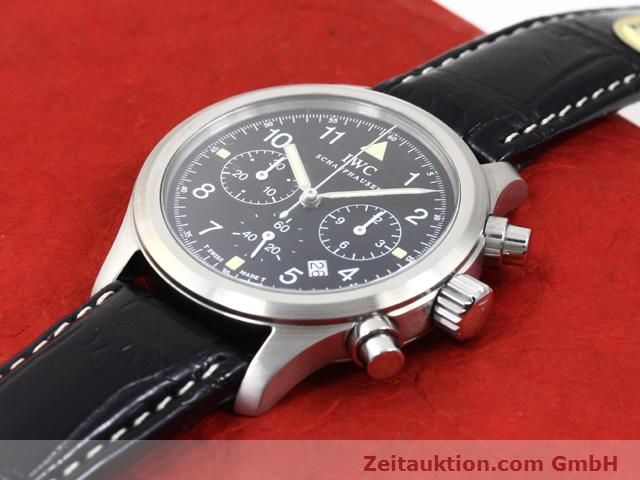 Used luxury watch IWC Fliegerchronograph steel quartz Kal. 630 Ref. 3741  | 140069 01