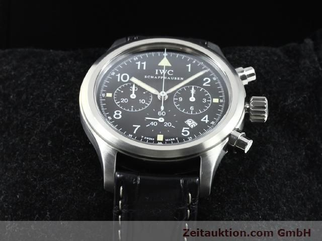 Used luxury watch IWC Fliegerchronograph steel quartz Kal. 630 Ref. 3741  | 140069 07