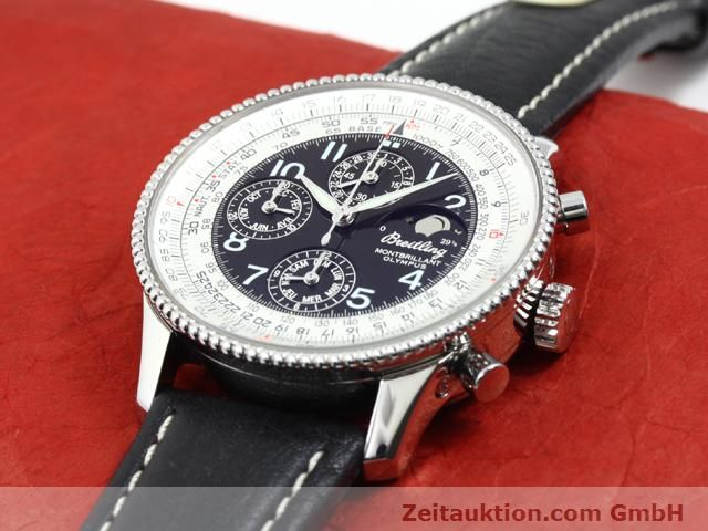 Used luxury watch Breitling Montbrillant steel automatic Kal. ETA 2892A2 Ref. A19350  | 140071 01