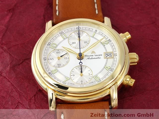 Used luxury watch Maurice Lacroix Croneo gold-plated automatic Kal. ETA 7750 Ref. 03700  | 140072 13