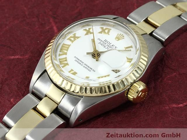 montre de luxe d occasion Rolex Lady Datejust acier / or  automatique Kal. 2030 Ref. 6917  | 140077 01