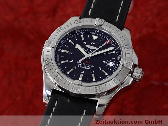 Used luxury watch Breitling Colt steel automatic Kal. ETA 2824-2 Ref. A17380  | 140083 04