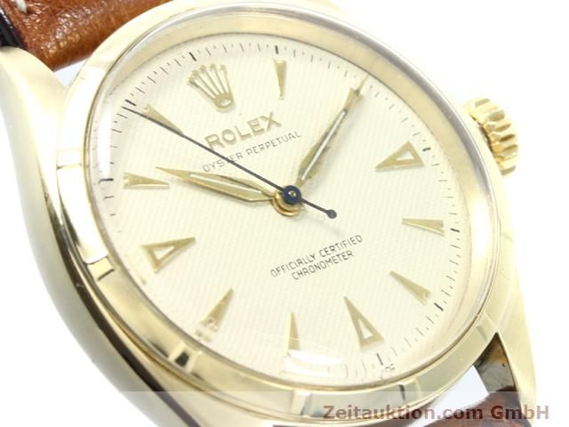 Used luxury watch Rolex Oyster Perpetual 14 ct yellow gold automatic Kal. 645 Ref. 6285  | 140089 02