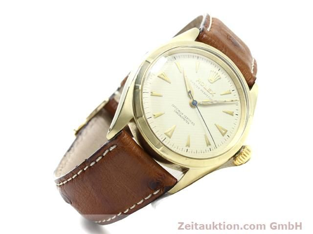 Used luxury watch Rolex Oyster Perpetual 14 ct yellow gold automatic Kal. 645 Ref. 6285  | 140089 03