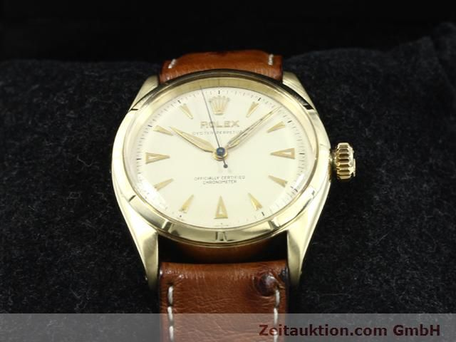 Used luxury watch Rolex Oyster Perpetual 14 ct yellow gold automatic Kal. 645 Ref. 6285  | 140089 07