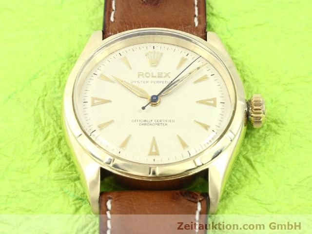 Used luxury watch Rolex Oyster Perpetual 14 ct yellow gold automatic Kal. 645 Ref. 6285  | 140089 15