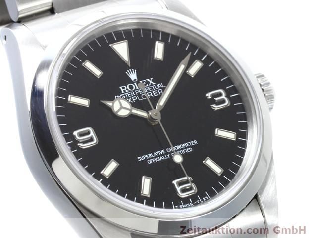 Used luxury watch Rolex Explorer steel automatic Kal. 3000 Ref. 14270  | 140097 02