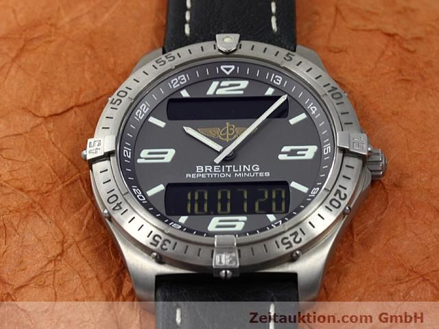 Used luxury watch Breitling Aerospace titanium quartz Kal. ETA E10391 Ref. E65062  | 140100 15