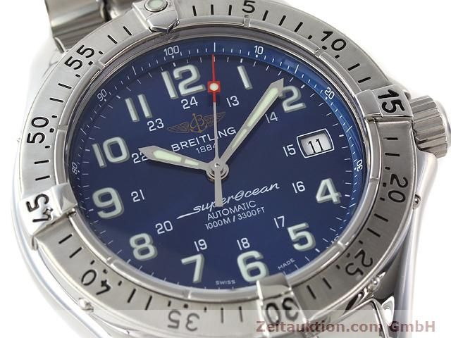 Used luxury watch Breitling Superocean steel automatic Kal. ETA 2824-2 Ref. A17340  | 140103 02