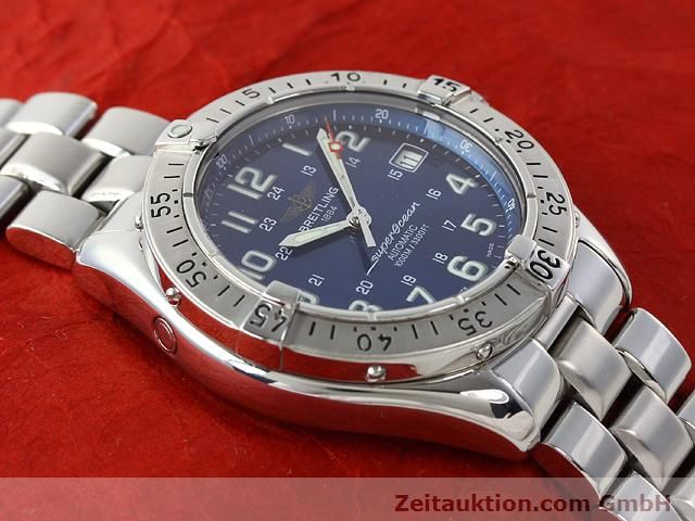 Used luxury watch Breitling Superocean steel automatic Kal. ETA 2824-2 Ref. A17340  | 140103 15