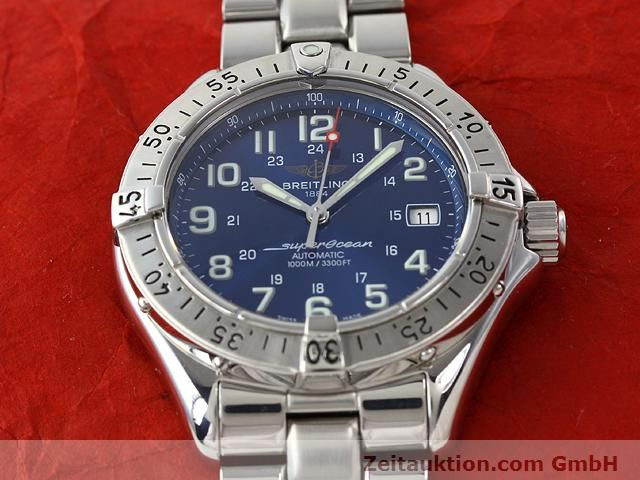 Used luxury watch Breitling Superocean steel automatic Kal. ETA 2824-2 Ref. A17340  | 140103 16