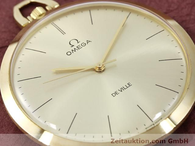 Used luxury watch Omega Taschenuhr 14 ct yellow gold manual winding Kal. 601 Ref. 1211  | 140117 02