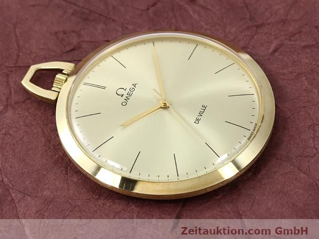 Used luxury watch Omega Taschenuhr 14 ct yellow gold manual winding Kal. 601 Ref. 1211  | 140117 13