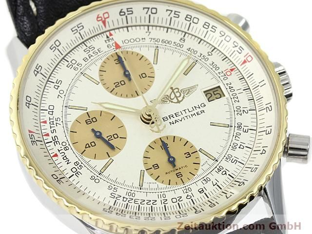 Used luxury watch Breitling Navitimer gilt steel automatic Kal. Valjoux 7750 Ref. 81610  | 140123 02