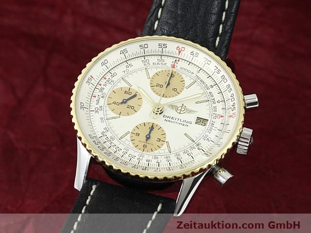 Used luxury watch Breitling Navitimer gilt steel automatic Kal. Valjoux 7750 Ref. 81610  | 140123 04