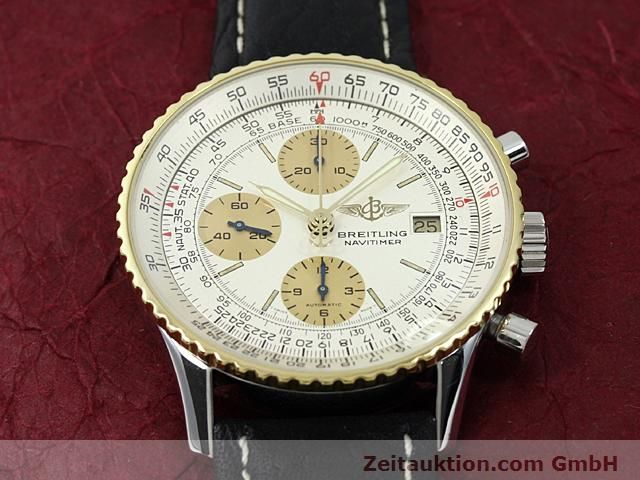 Used luxury watch Breitling Navitimer gilt steel automatic Kal. Valjoux 7750 Ref. 81610  | 140123 12