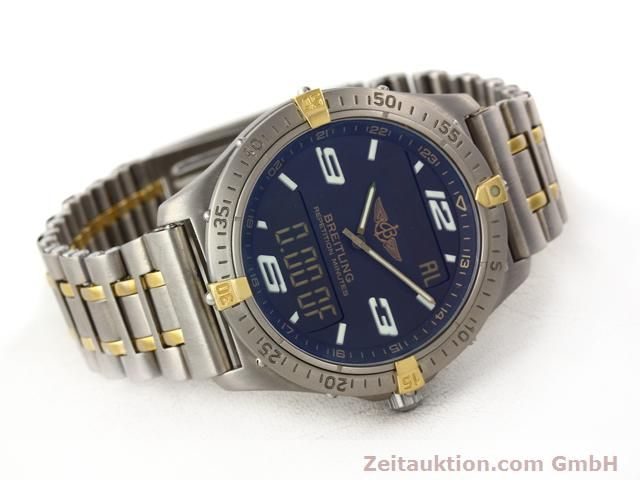 Used luxury watch Breitling Aerospace titanium / gold quartz Ref. F65062  | 140142 03