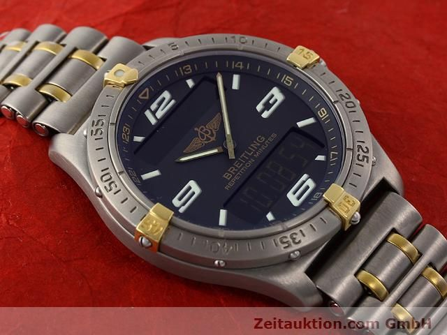Used luxury watch Breitling Aerospace titanium / gold quartz Ref. F65062  | 140142 14
