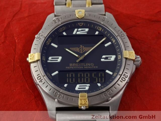 Used luxury watch Breitling Aerospace titanium / gold quartz Ref. F65062  | 140142 15