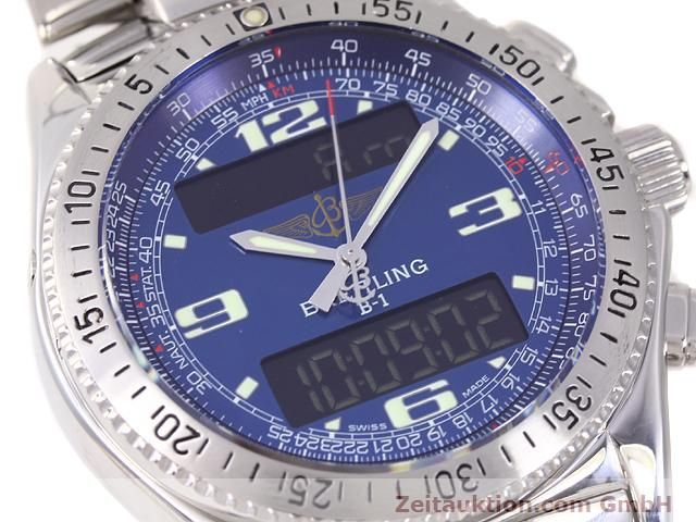 Used luxury watch Breitling B1 steel quartz Kal. ETA E20331 Ref. A68362  | 140144 02