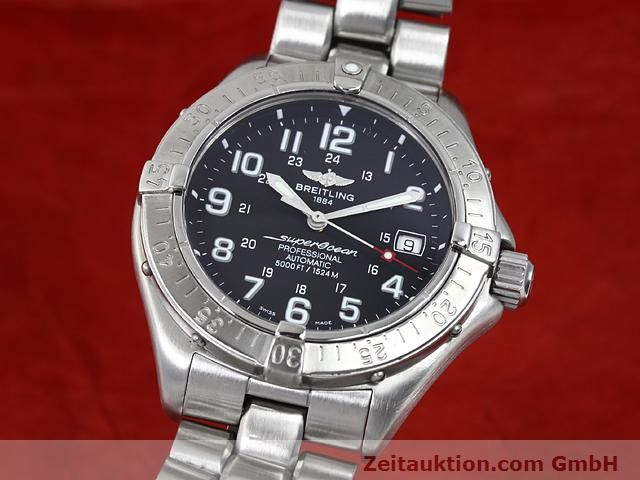 Used luxury watch Breitling Superocean steel automatic Kal. ETA 2824-2 Ref. A17345  | 140161 04
