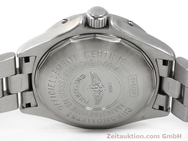 Used luxury watch Breitling Superocean steel automatic Kal. ETA 2824-2 Ref. A17345  | 140161 09