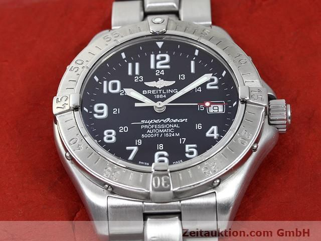 Used luxury watch Breitling Superocean steel automatic Kal. ETA 2824-2 Ref. A17345  | 140161 15