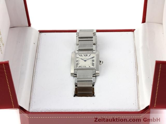 Used luxury watch Cartier Tank steel quartz Kal. 157.06 Ref. 2301  | 140179 07