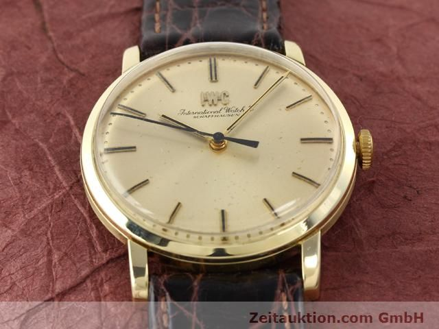Used luxury watch IWC * 14 ct yellow gold manual winding Kal. 403 Ref. 2400  | 140188 13