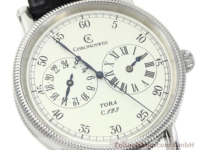 Used luxury watch Chronoswiss Tora steel automatic Kal. C.123 Ref. CH1323  | 140197 02