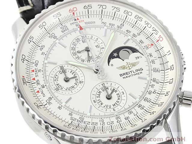 Used luxury watch Breitling Montbrillant steel automatic Kal. ETA 2892A2 Ref. A19340  | 140212 02