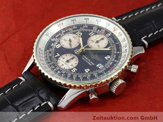 Used luxury watch Breitling Navitimer gilt steel automatic Kal. ETA 7750 Ref. 81610  | 140218 01