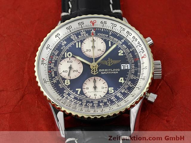 Used luxury watch Breitling Navitimer gilt steel automatic Kal. ETA 7750 Ref. 81610  | 140218 13