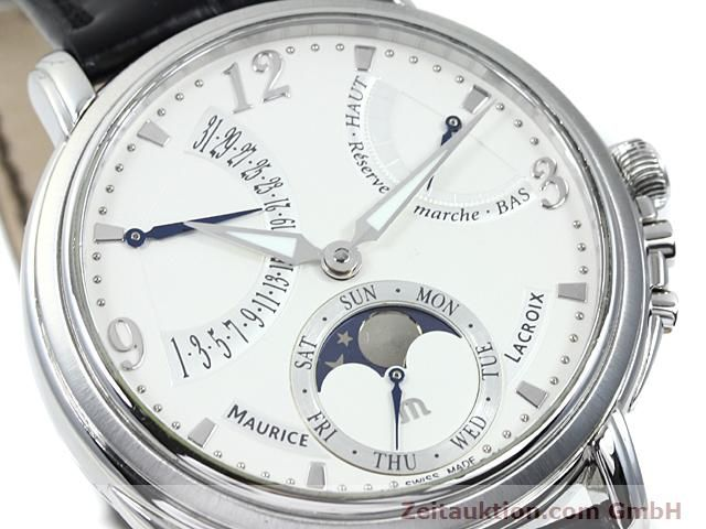 Used luxury watch Maurice Lacroix Masterpiece steel manual winding Kal. ML 104 ETA 6496-1 Ref. MP7078  | 140223 02