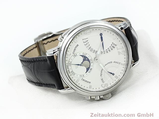 Used luxury watch Maurice Lacroix Masterpiece steel manual winding Kal. ML 104 ETA 6496-1 Ref. MP7078  | 140223 03