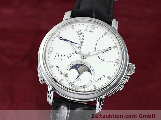 Used luxury watch Maurice Lacroix Masterpiece steel manual winding Kal. ML 104 ETA 6496-1 Ref. MP7078  | 140223 04