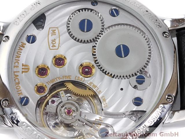 Used luxury watch Maurice Lacroix Masterpiece steel manual winding Kal. ML 104 ETA 6496-1 Ref. MP7078  | 140223 10