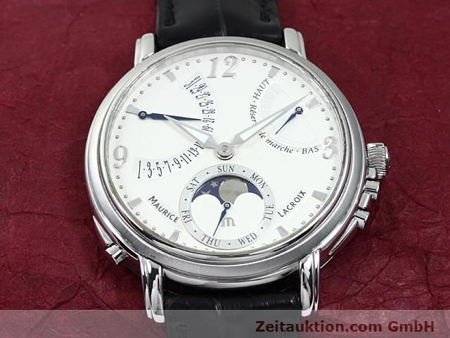 Used luxury watch Maurice Lacroix Masterpiece steel manual winding Kal. ML 104 ETA 6496-1 Ref. MP7078  | 140223 15