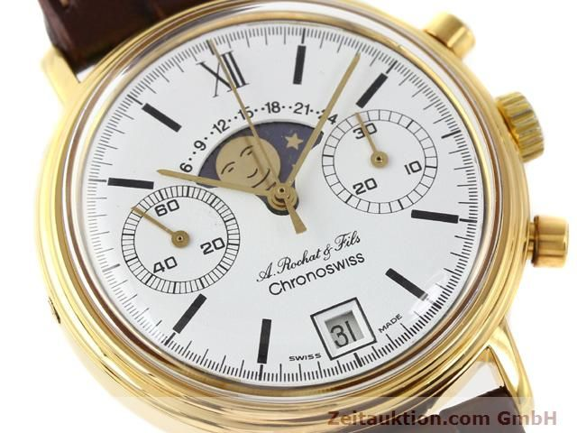 Used luxury watch Chronoswiss Lunar gold-plated manual winding Kal. Valj 7734 Ref. 34.300  | 140224 02