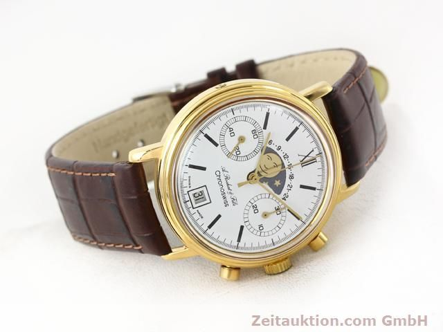Used luxury watch Chronoswiss Lunar gold-plated manual winding Kal. Valj 7734 Ref. 34.300  | 140224 03