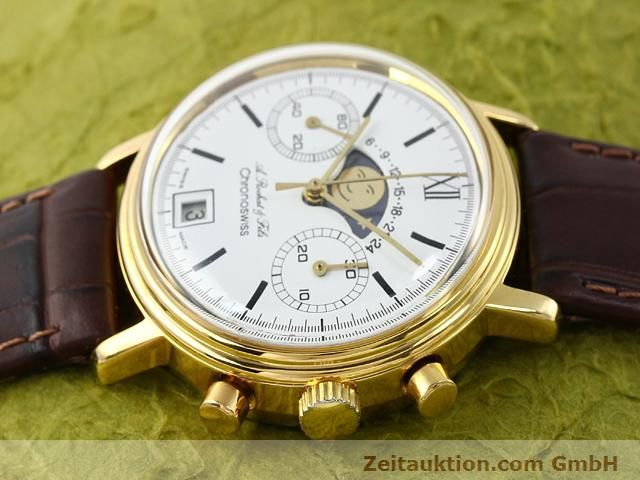 Used luxury watch Chronoswiss Lunar gold-plated manual winding Kal. Valj 7734 Ref. 34.300  | 140224 05