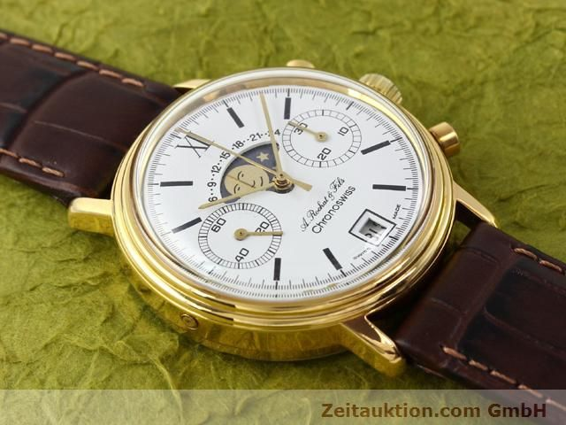Used luxury watch Chronoswiss Lunar gold-plated manual winding Kal. Valj 7734 Ref. 34.300  | 140224 13