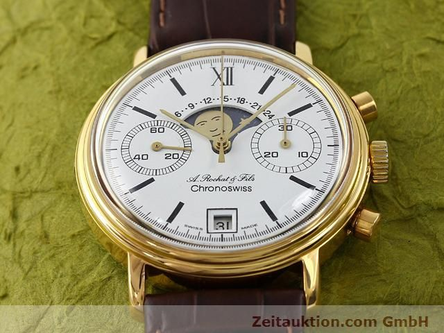 Used luxury watch Chronoswiss Lunar gold-plated manual winding Kal. Valj 7734 Ref. 34.300  | 140224 14