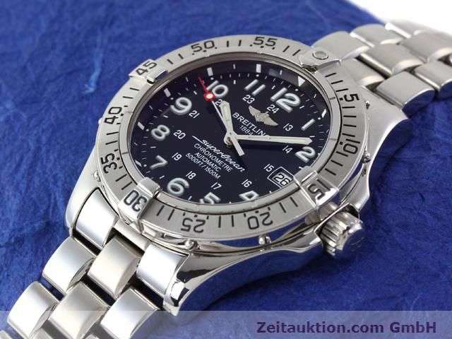 Used luxury watch Breitling Superocean steel automatic Ref. A17360  | 140227 01