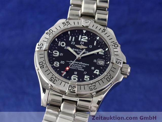 Used luxury watch Breitling Superocean steel automatic Ref. A17360  | 140227 04